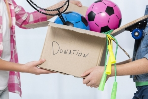 decluttering items as donating